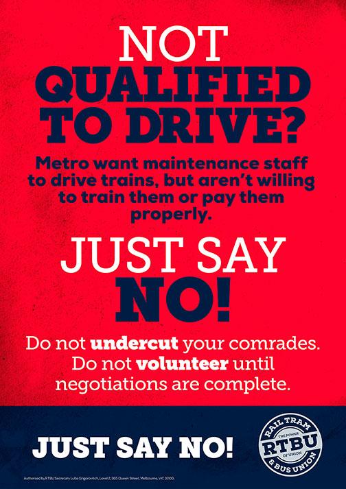 RTBU Qualified Drivers poster