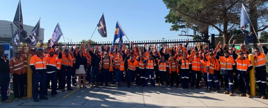 HCMT workers on strike!